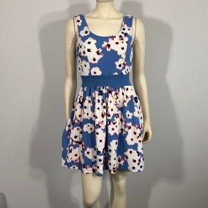 Floral blue dress medium